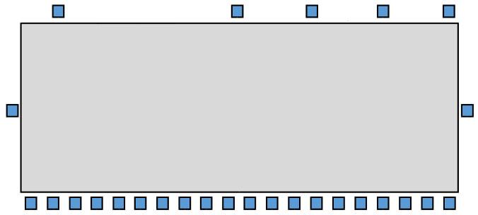 Обследованиенаружного освещения - схема установки прожекторов