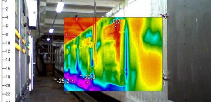 Обследование тепловизором холодильных установок