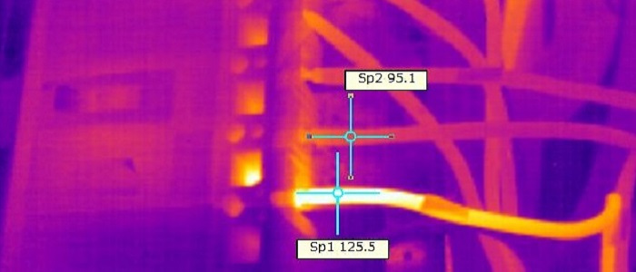 Обследование электрооборудования тепловизором