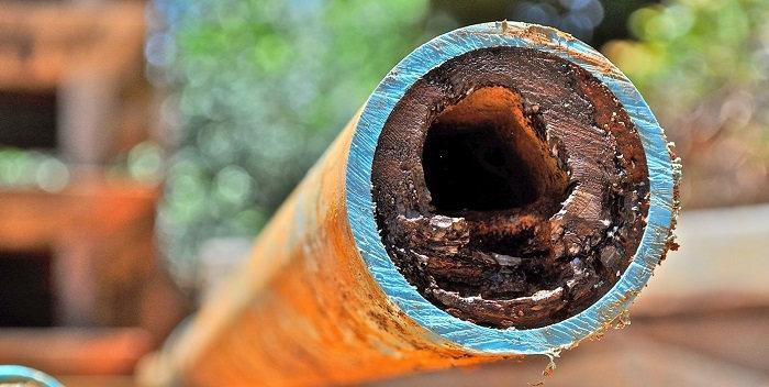 Зарастание и коррозия трубопроводов
