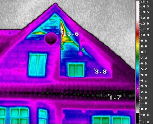 Энергоаудит домов - тепловизионное обследование - потери тепла