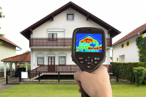 Обследование здания тепловизором
