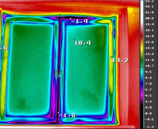 Энергетическое обследование жилых домов - тепловизионное обследование окон