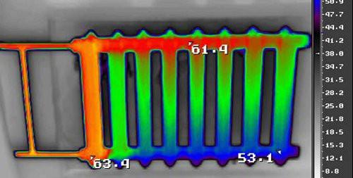 Энергоаудит жилого дома - тепловизионное обследование радиаторов