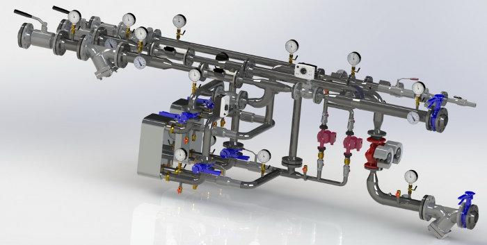 Узел управления системы отопления