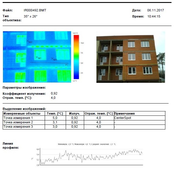Тепловизионное обследование многоквартирного дома - окна