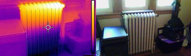 Обследование радиаторов с помощью тепловизора