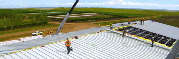 утепление крыши на предприятии