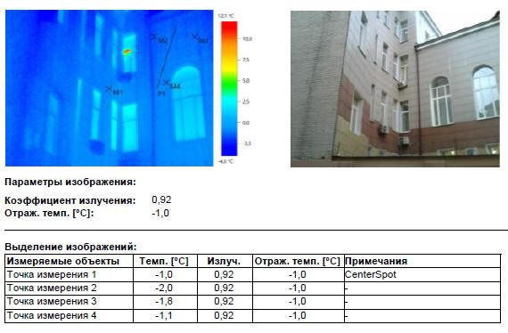 Тепловизионное обследование ограждающих конструкций