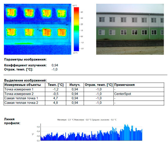 обследование тепловизором модульного здания