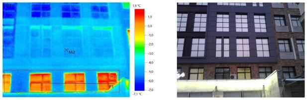 Результаты тепловизионного обследования административного здания