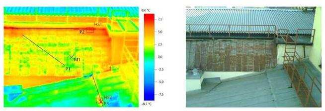 Тепловизионное обследование кровли здания по адресу г. Москва, ул. Рождественка