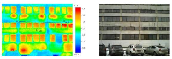 Тепловизионное обследование зданий предприятия