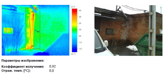 Тепловизионное обследование фасада здания