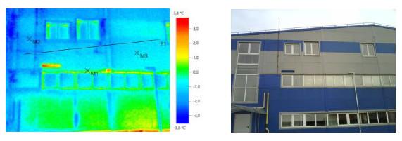 Отчет по тепловизионному обследованию Производственно-складского здания