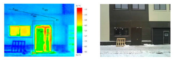 Тепловизионное обследование складского комплекса с админ помещениями