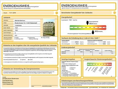 Энергопаспорт здания в Германии