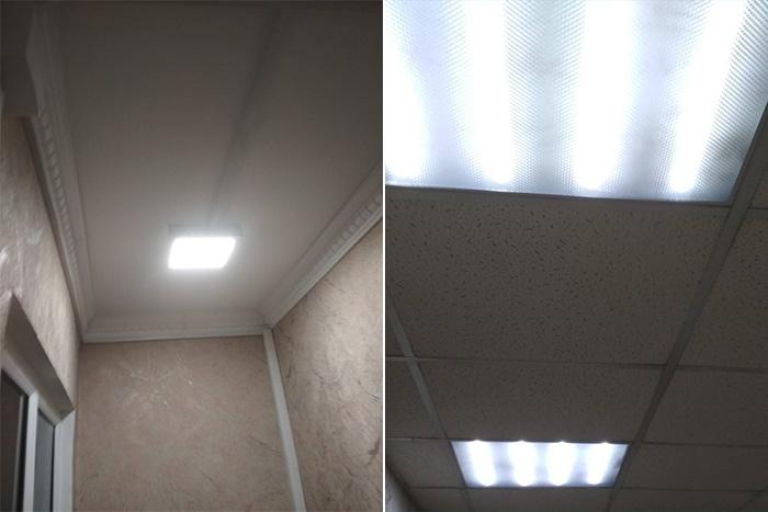 Результаты замеров - система освещения склада