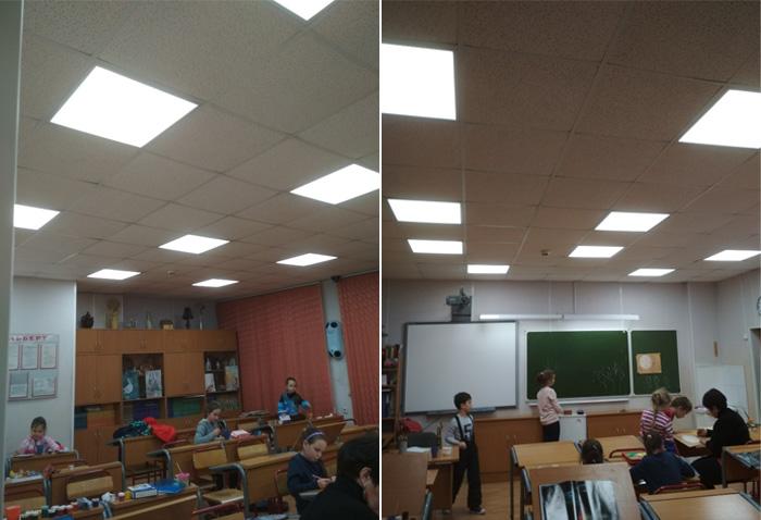 Оценка уровня освещенности школы в классах