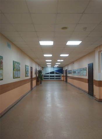 Уровень освещенности школы