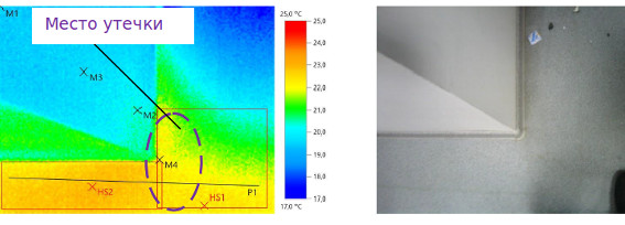 Тепловизионное обследование поиск утечек воды в бизнес центре