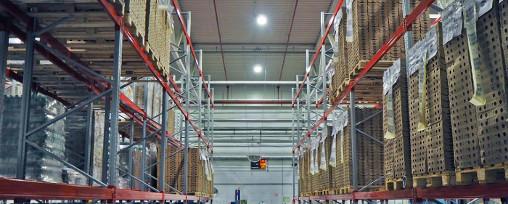 Отчет: уровень освещенности склада в г. Москва
