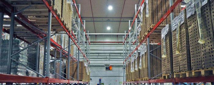 Отчет: уровень освещенности склада