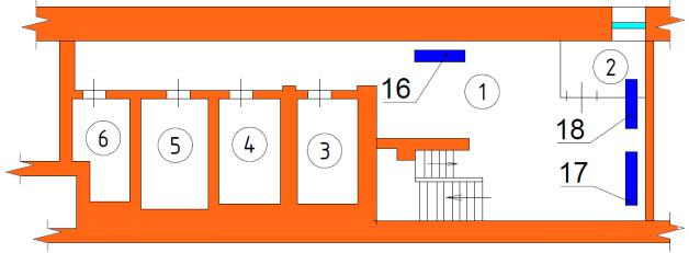 Схема расположения радиаторов отопления подвала. Расчет тепловой нагрузки магазина