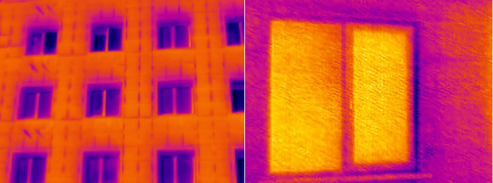 Пример термограммы сделанной слабым тепловизором