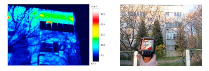 Тепловизионное обследование здания котельной