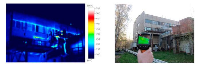 Обследование котельной. Карты дефектов и выявленные тепловые потери здания котельной
