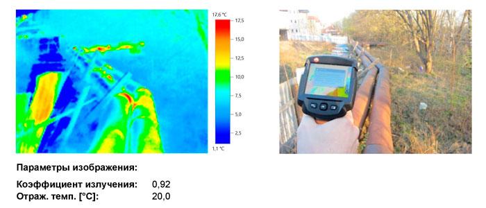 Тепловизионное обследование тепловой сети