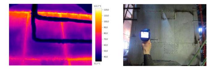 Средняя температура обшивки экономайзера