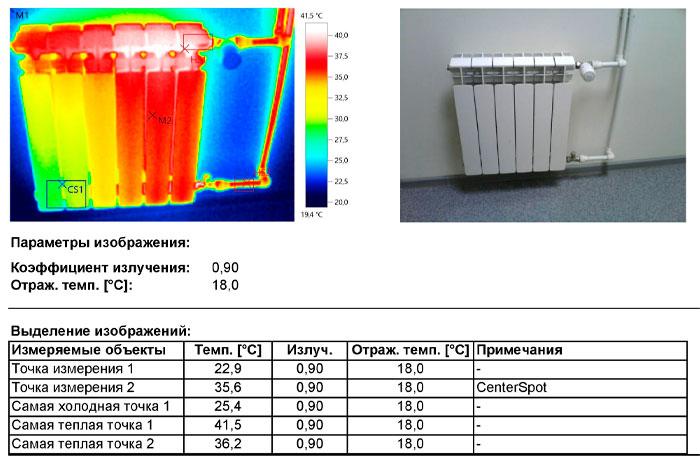 Наблюдается засор секции радиатора либо недостаточная температура теплоносителя для эффективной работы отопительного прибора.