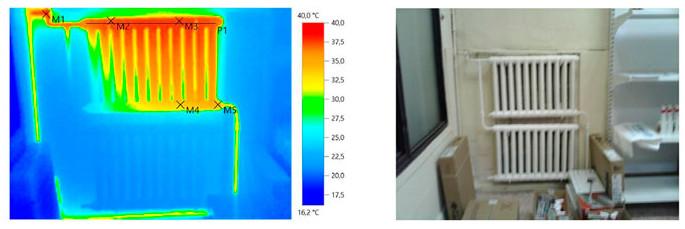 Тепловизионный контроль отопления