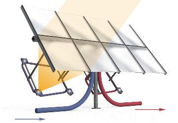 #16 Солнечная установка для производства тепла
